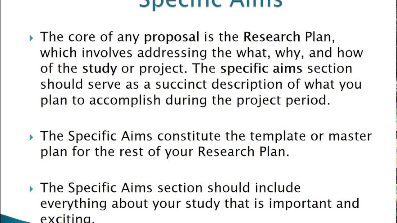 How to Write Specific Aims