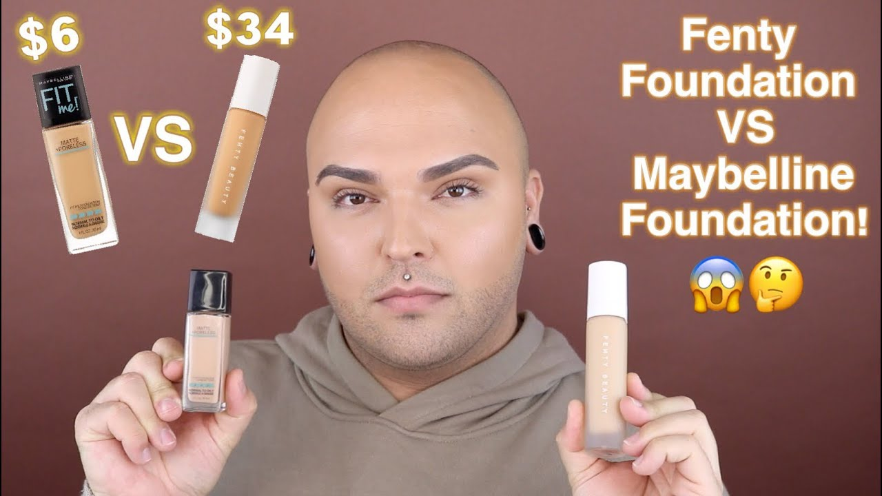 Fenty Beauty Foundation VS Maybelline Fit Me Foundation