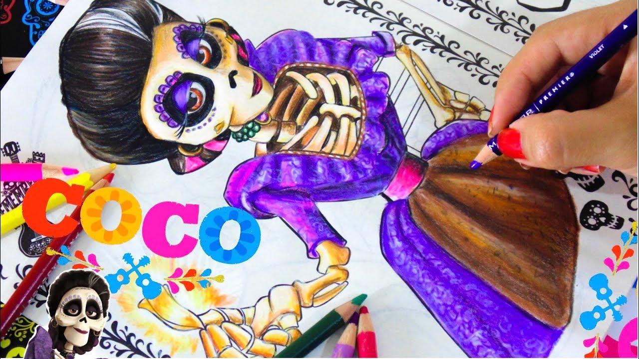 Como Colorear A Mamá Imelda Coco Libro Para Colorear Coco Disney Pixar Vane V Art