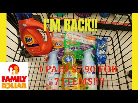 I'M BACK!!| FAMILY DOLLAR $5 OFF $25| ALL DIGITAL COUPONING| SO EASY!!!!