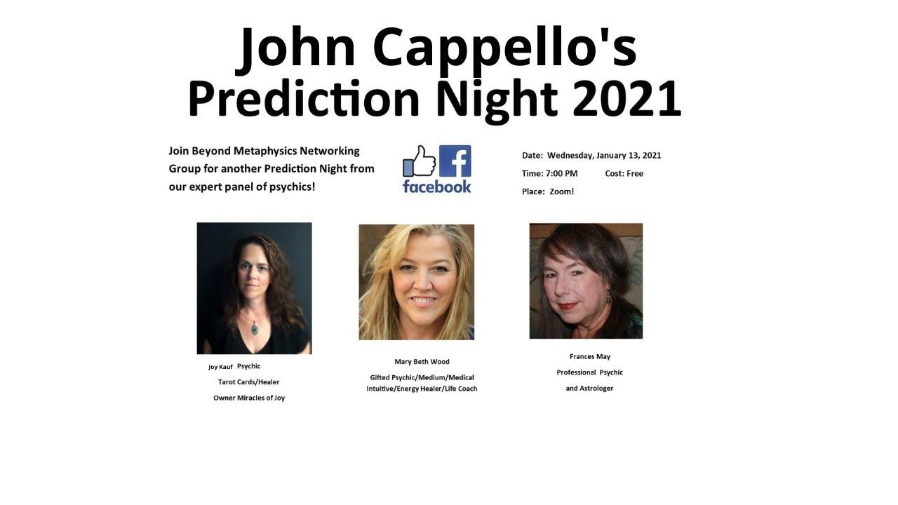 John Cappello's Prediction Night 2021