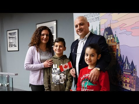 Syrian refugee family become Canadian citizens