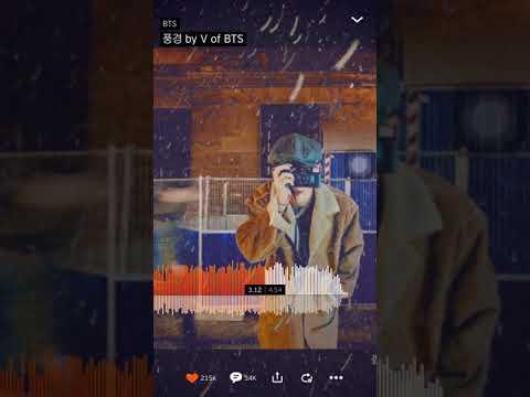 Scenery By V Of Bts Kim Taehyung Youtube