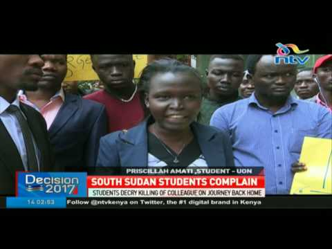 South Sudan students decry killing of colleague on journey back home