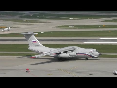(AAAMAZING SOUND!!!) Russia Air Force Ilyushin 76 taxiing/take off at ZRH