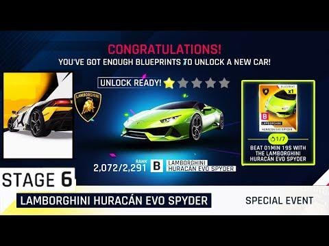ASPHALT 9 | Lamborghini Huracán EVO Spyder Special Event Stage 6