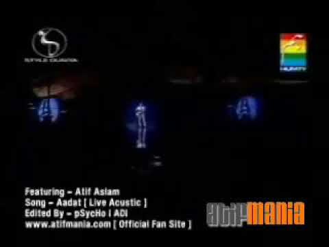 adat atif aslam first song sing a first time live show