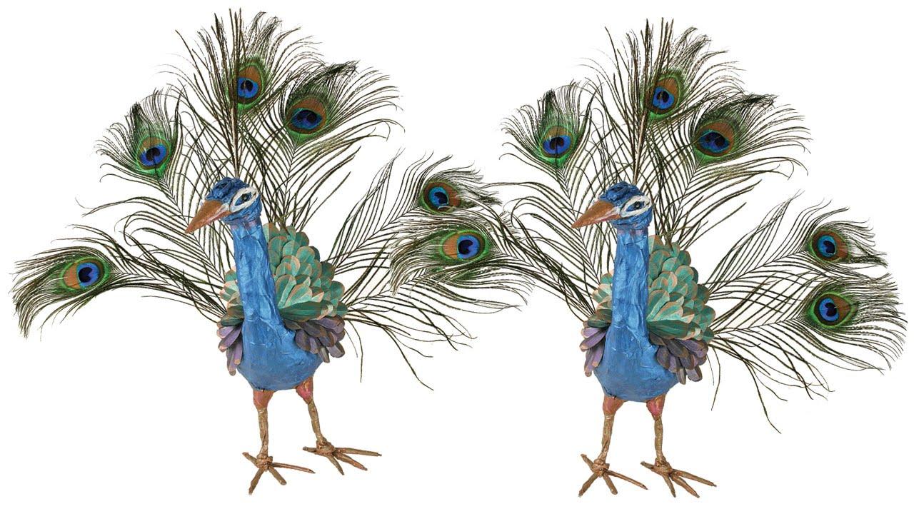 Paper Mache Peacock