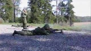 Shooting FN MAG machineguns