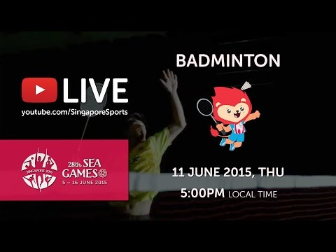 Badminton Men's Team Semi-Finals Malaysia vs Indonesia (Day 6) | 28th SEA Games Singapore 2015