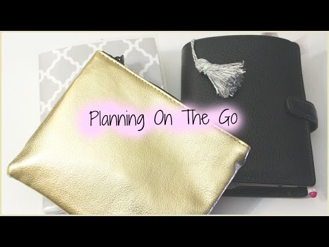 Pocket Filofax Finsbury Set Up & Travel Planner Supplies/ Planning On The Go!