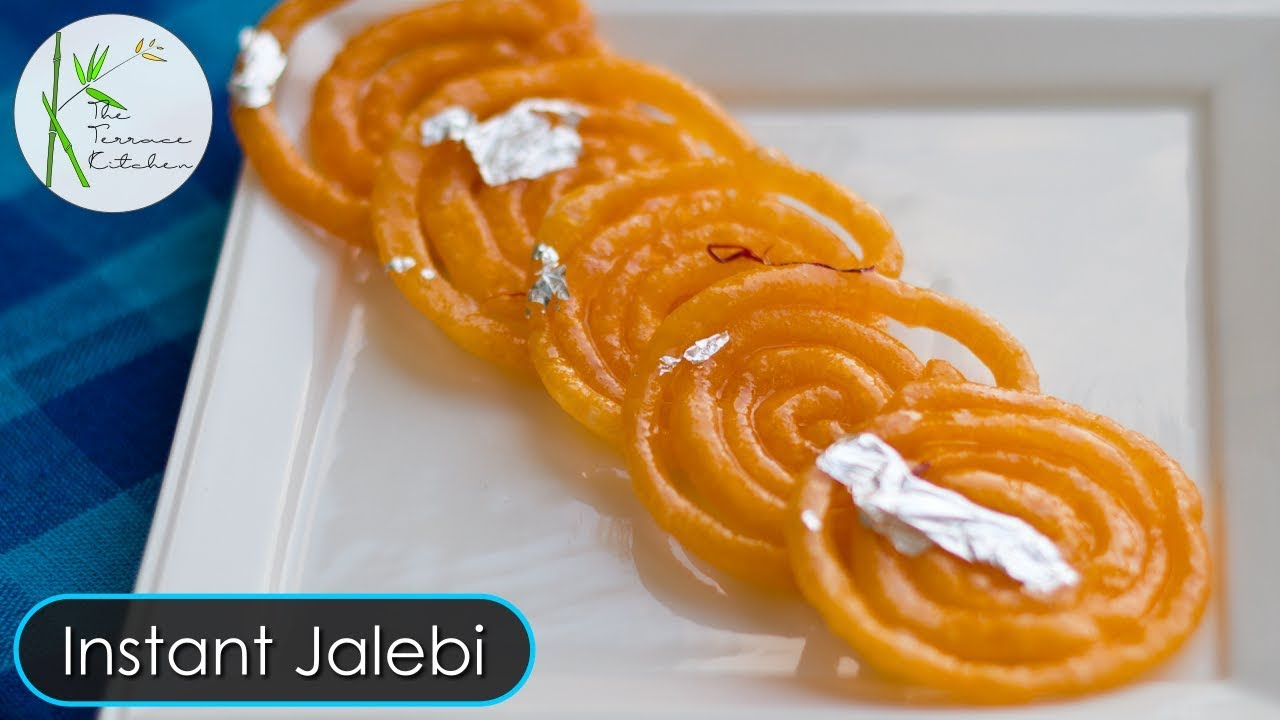 Instant Jalebi Recipe Jalebi Without Yeast Crunchy Jalebi By The Terrace Kitchen Youtube