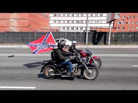 Колонна мотоциклистов, Челябинск