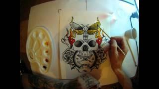 watercolor tattoo flash by Igor tattoo