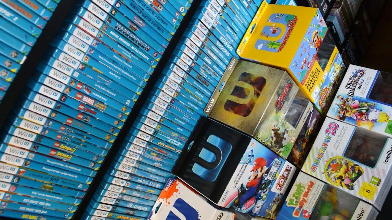 Out For Wii U Games : Updated world s biggest wii u game collection youtube