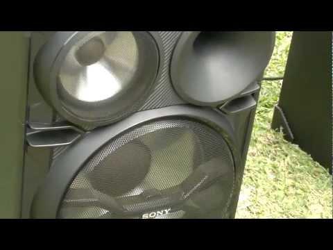 Probando Equipo de sonido sony genezi de 22.000 en PY