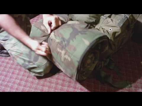 Attach Sleeping Bag Ecws Or Other To Alice Pack Military Survival
