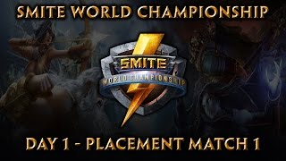 Smite World Championship: Day 1, Match 1 Cognitive Red vs. DID