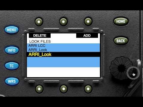 How to load custum look file on the Arri Alexa