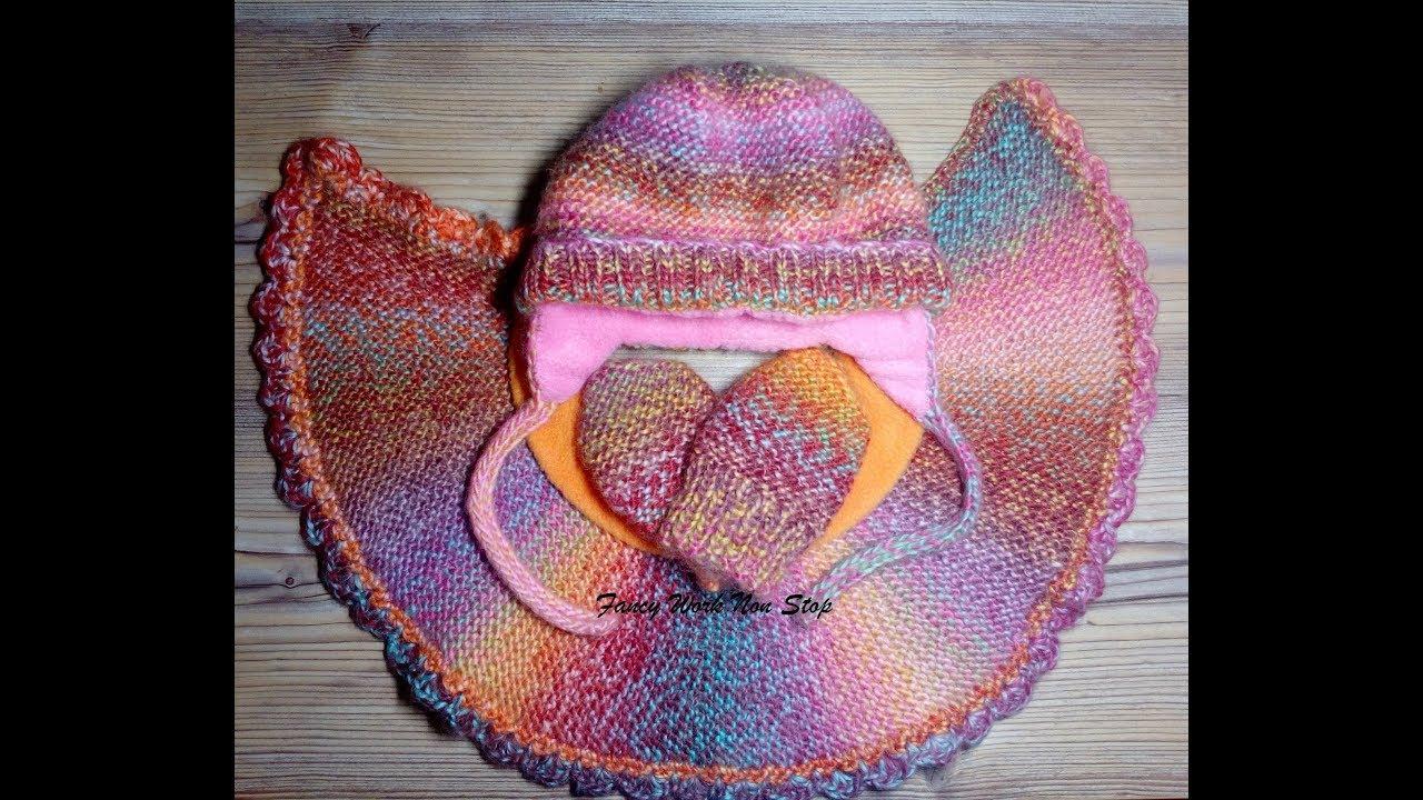 Вязание для детей. Шапка, манишка, рукавички
