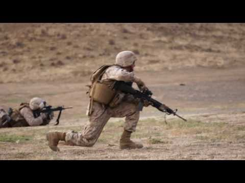 Marines Live Fire Training at Camp Pendleton