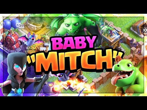 Night Witch BROKEN? 'Baby Mitch' Clash of Clans Builder Hall 6 Strategy