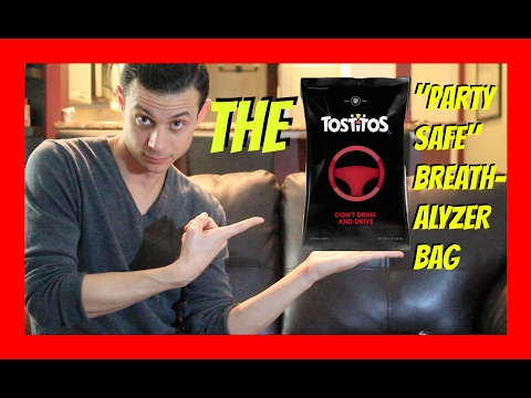 """The Tostitos """"Party Safe"""" Breathalyzer Bag"""
