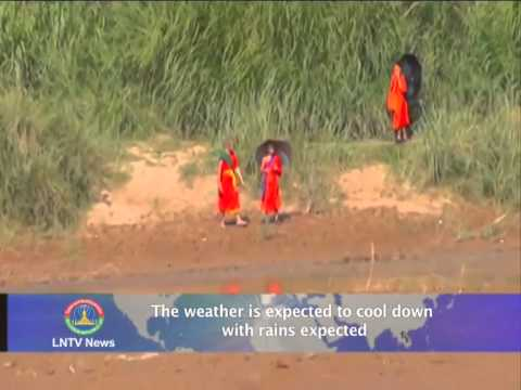 Lao NEWS on LNTV: The weather is expected to cool down with rains expected.27/5/2014