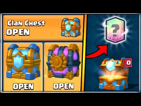 Thumbnail: TIER 10 OUT OF 10 MAXED CLAN CHEST OPENING | CLASH ROYALE | NEW LEGENDARY CARD!