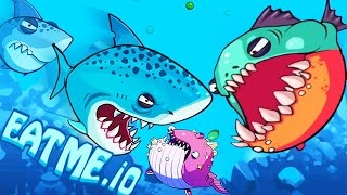 Eatme.io New iO Game Agar.io With Monster Fish War!