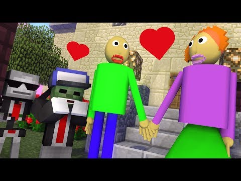 download Monster School : BALDI'S LOVE STORY - Minecraft Animation