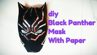 diy Black panther mask making with paper