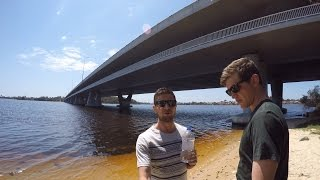 HOW TO BOTTLE FLIP (ONTO HUGE BRIDGE!!) | How Ridiculous