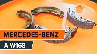 Kaip pakeisti galiniai stabdžių būgnai ir galinių stabdžių kaladėlės MERCEDES-BENZ A W168 [Pamoka]