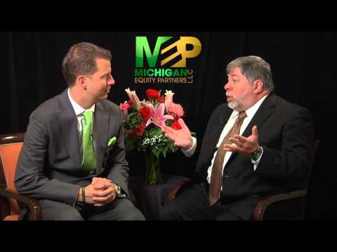 Steve Wozniak Apple Speaks to Michigan Equity Partners Oakland County Investment Properties Experts