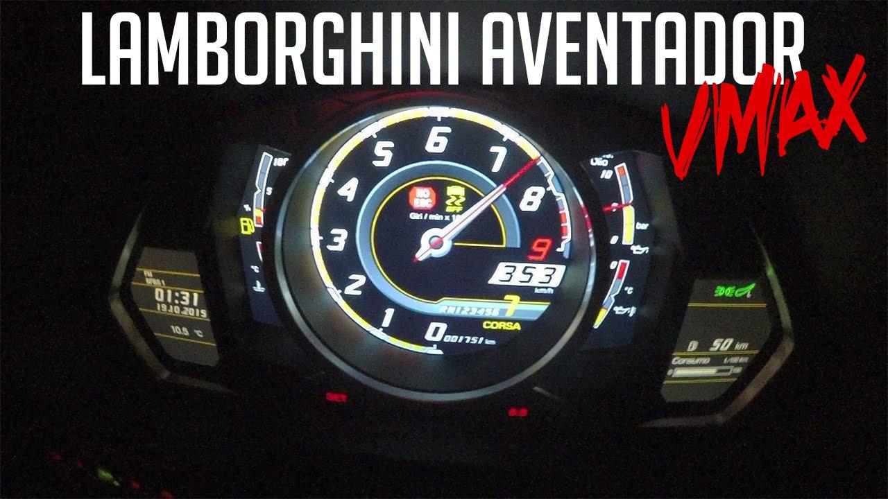 Lamborghini aventador max speed