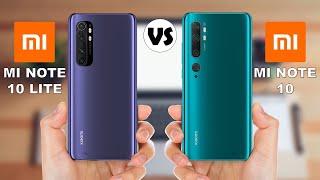 Xiaomi Mi Note 10 Lite vs Xiaomi Mi Note 10