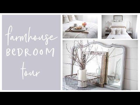 Home Decor- Farmhouse Inspired Bedroom Tour