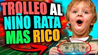 TROLLEO AL NIÑO RATA MÁS RICO | TROLLEOS EN MINECRAFT #86