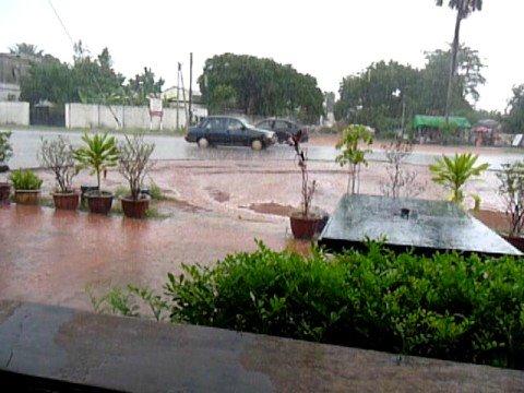 Rain in Fajara, Gambia