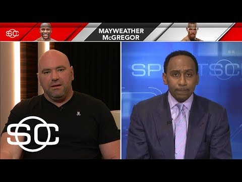 Stephen A. Smith And Dana White Go Back And Forth Over Mayweather-McGregor | SportsCenter | ESPN