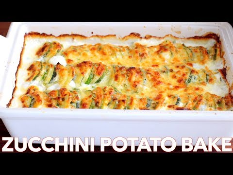 Creamy Baked Zucchini Potato Gratin Recipe Natasha's Kitchen