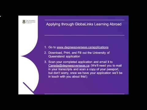 University of Queensland   Master of Speech Pathology Studies Webinar
