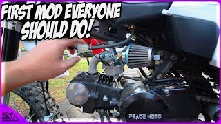 First Mod Everyone Should Do After Buying A Chinese Pit/Dirt Bike To Improve Performance!