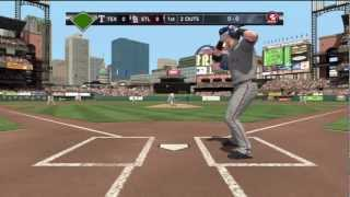 Major League Baseball 2K12 - Texas Rangers @ St Louis Cardinals