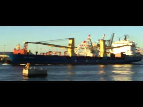 Fremantle Port Ship Exiting