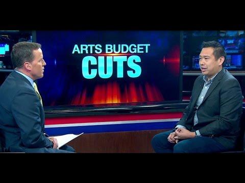 Arts budget cuts protest