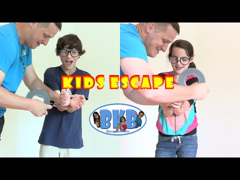 Bratayley Knows How to Escape | Kids Escape from Zip Ties and Duct Tape | BKB