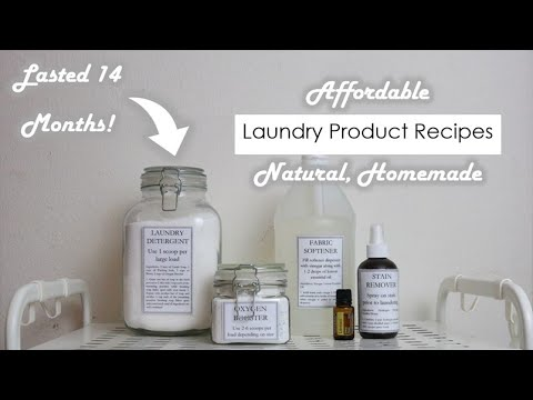 Homemade Laundry Detergent | Stain Remover | Fabric Softener (2018)