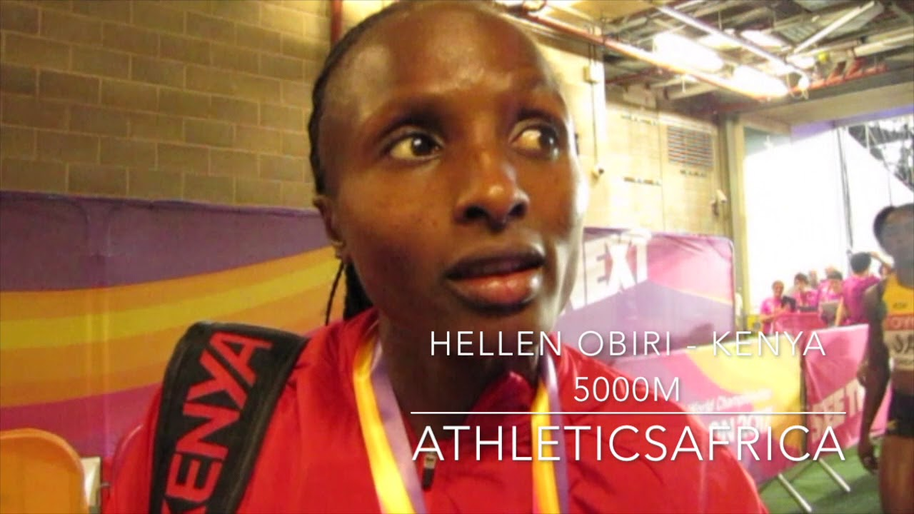 Hellen Obiri (Kenya) wins 5000m Women Final - IAAF World Championships London 2017